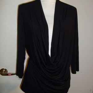 Studio Y Cowl Neck 3/4 sleeves Top L